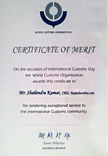 TIOL Awarded WCO Certificate of Merit